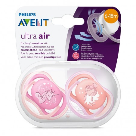 Philips Avent Sucette +6m Ultra Air Rose