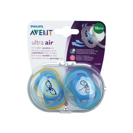Philips Avent Sucette +18m Air Mix 2 Lion Ours