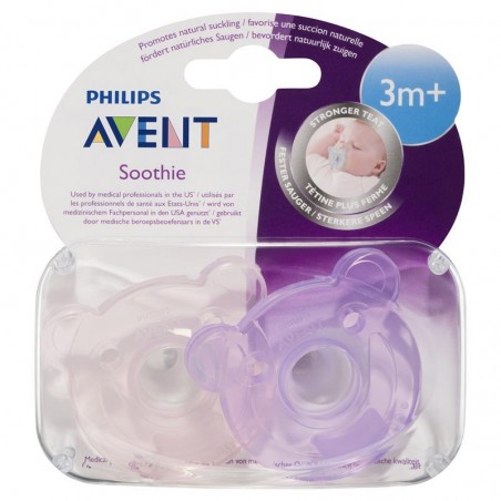 Philips Avent Sucette +3m Soothie Ours Rose Mauve