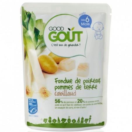 Good Gout Fondue prei, aardappelen en kabeljauw 190g Bio