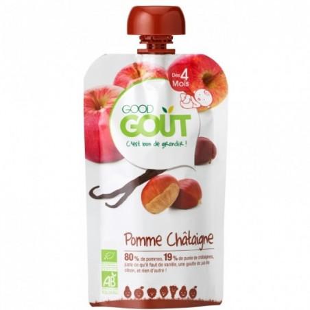 Good Gout Pomme châtaigne vanille Bio 10 pièces