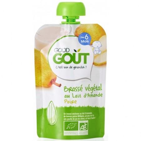 Good Gout Brassé végétal lait d'amande poire Bio 10 pièces