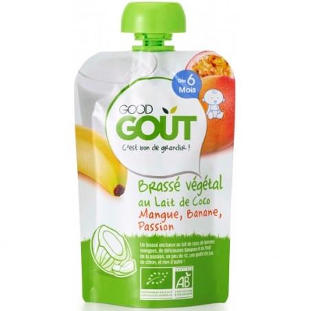 Good Gout Brassé végétal lait de coco mangue banane passion Bio 10 pièces