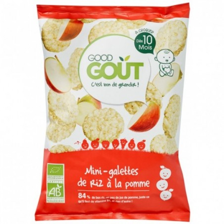 Good Gout Mini rijstwafel met appel Bio