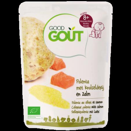 Good Gout Knolselder polenta met zalm Bio