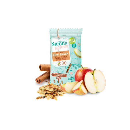 Sienna & Friends Snack Cru Pomme & Cannelle Bio 20 pièces