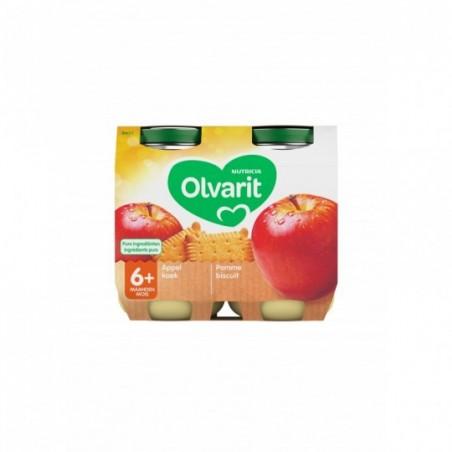 Olvarit fruitpap babypuree appel koek 6M 2x200g