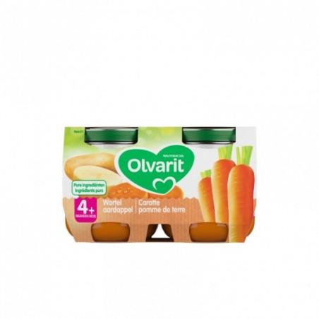Olvarit panade légumes bébé carotte pomme de terre 4 mois 2x125g