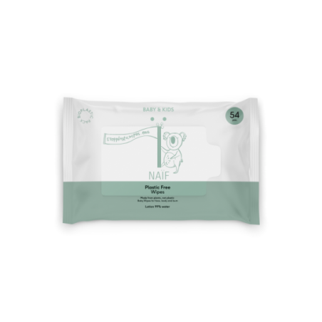 Naïf Lingettes humides Plastic Free Wipes 54 pièces