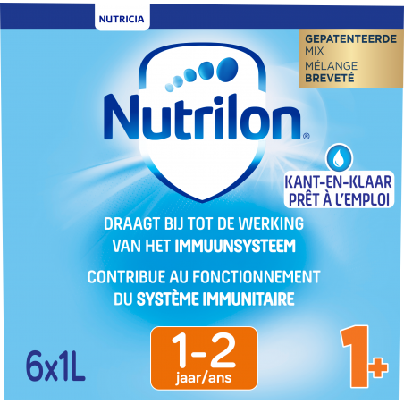 Nutrilon 1+ Groeimelk flesvoeding vanaf 1 jaar 6x1L