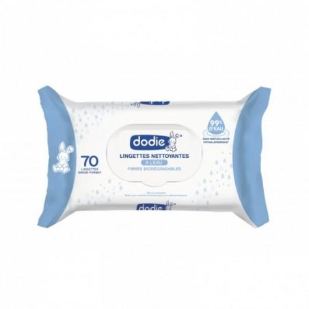 Dodie Lingettes à l'eau biodégradables 70 pièces