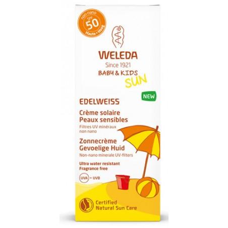 Weleda Edelweiss crème solaire bébé & kids SPF50 50ml