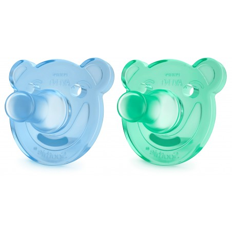 Philips Avent Sucette +0m Soothie Ours Bleu Vert