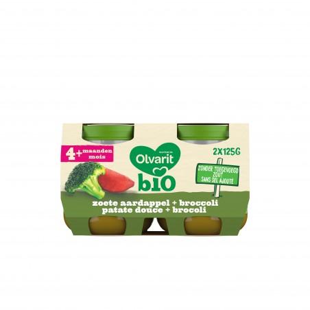 Olvarit panade légumes bébé patate douce brocolis 4M 2x125g  Bio